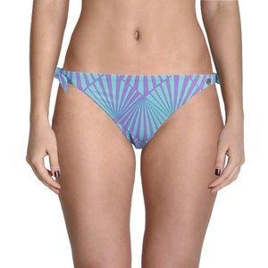 Raisins Aqua Swirl Print Bikini Bottom